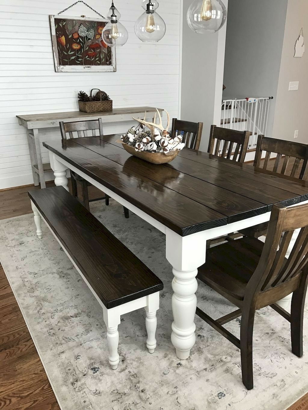 Gray Dining Room Table | Farmhouse Dining Room Decor Home Do It Yourself Furniture