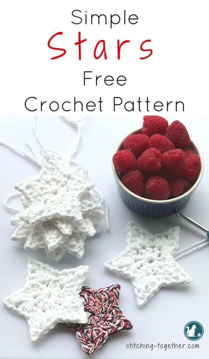 Simple Crochet Star Pattern | Navidad | Pinterest | Croché, Adornos ...