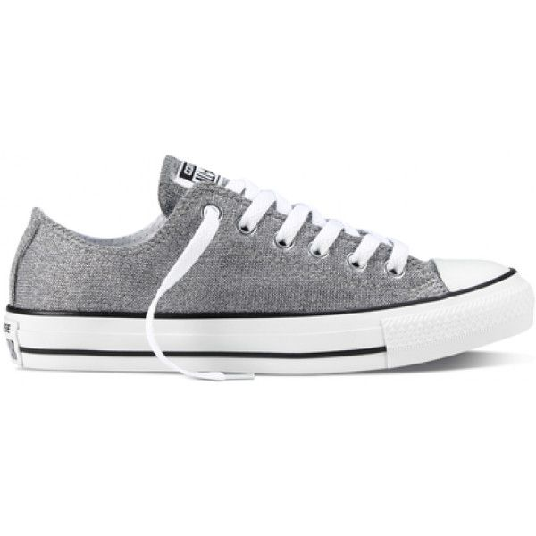 d3cc1f33350f4f Converse Women s Chuck Taylor All Star Sparkle Knit Athletic ( 50) ❤ liked  on Polyvore featuring shoes