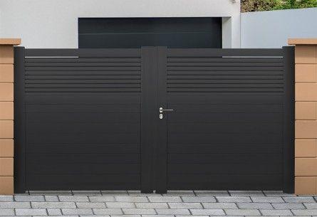 portail alu battant et coulissant dominica roy homedesign pinterest gate gates and iron. Black Bedroom Furniture Sets. Home Design Ideas