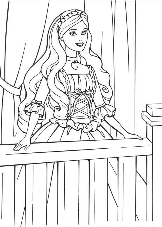 Coloring Page Barbie The Princess And The Pauper Kids N Fun