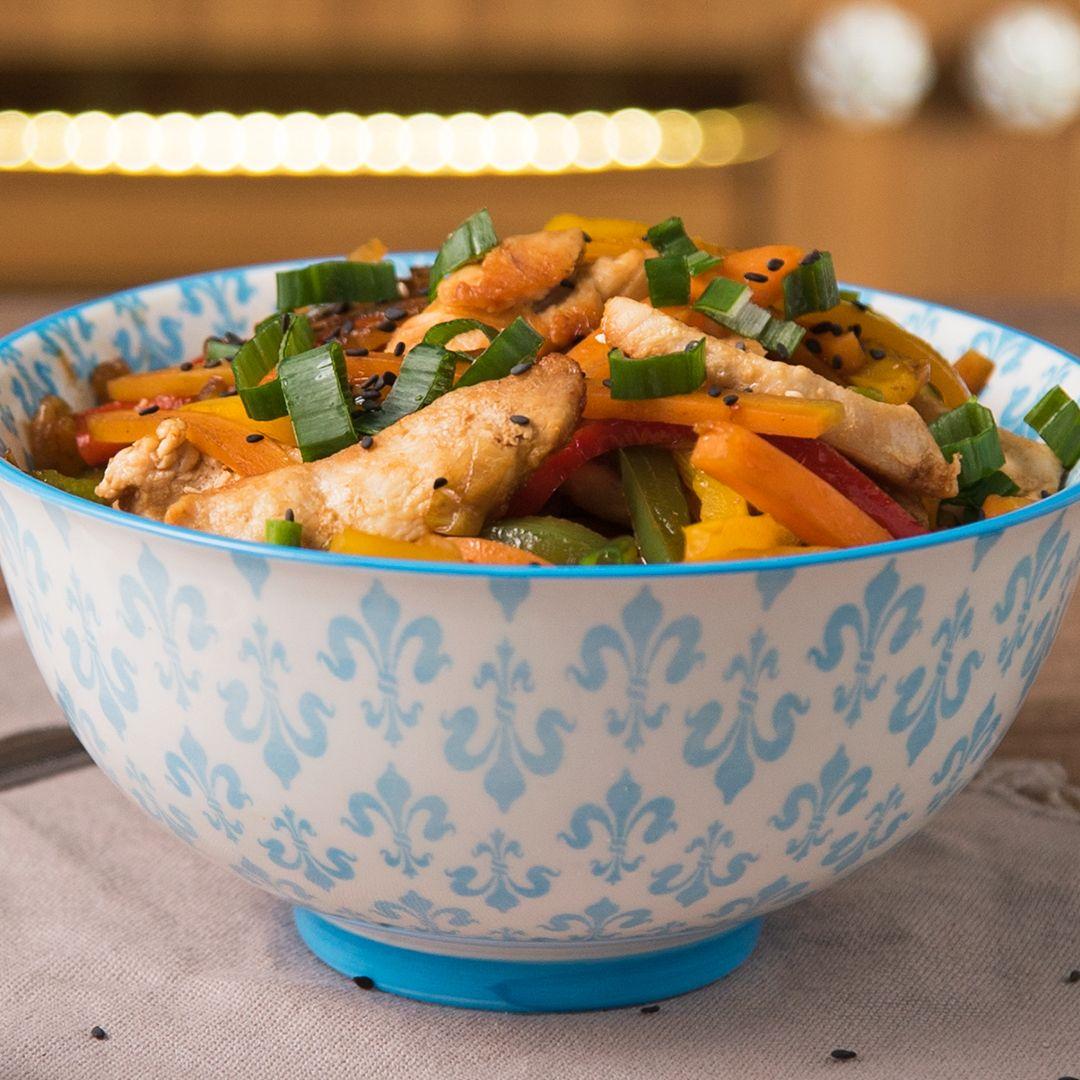 Wok de Pollo y Vegetales