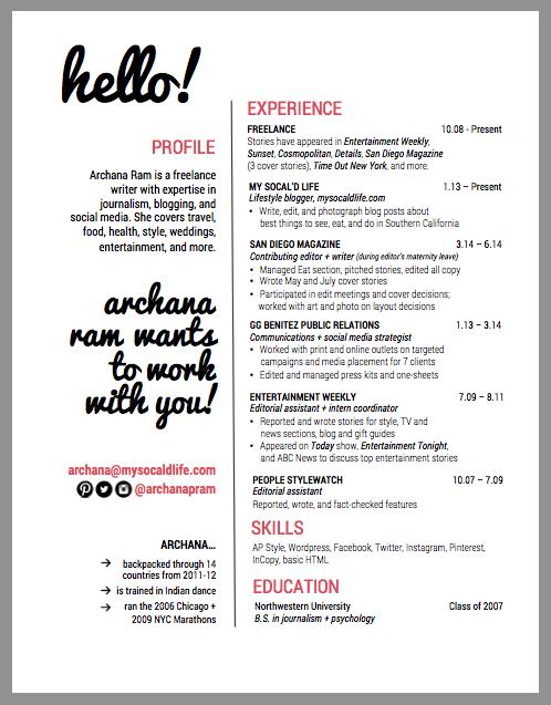 Writers Resume - Resume Sample
