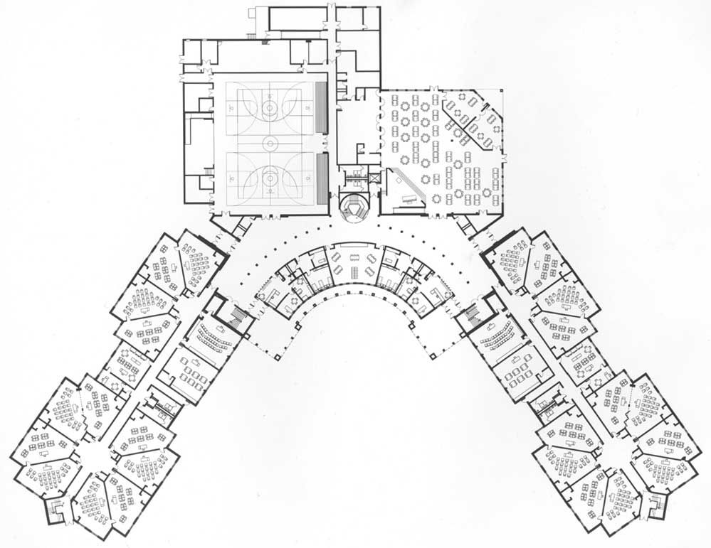 Richardson Plan School Floor Plan School Building Design Elementary School Architecture
