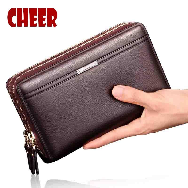 Brand Business wallet men purse Clutch luxury portfolio money clip coins pocket High capacity Casual Holders wallets phone bag