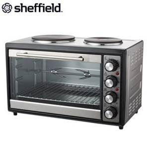 Buy Sheffield Table Top Oven W Dual Hot Plates Grays Australia Hot Plates Table Top Oven Mini Oven
