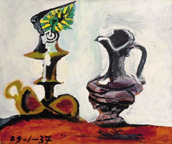 """Pablo Picasso - """"Still life with the candle"""". 1937"""