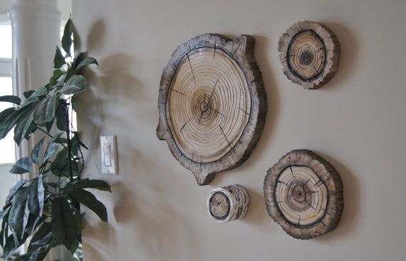Woodland Wall Art 3d Natural Wood Stump Wall Hanging Plaques Tree