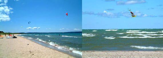 Kiteboarding On Grand Traverse Bay Traverse City Torch Lake Michigan Traverse City Beautiful Places In America