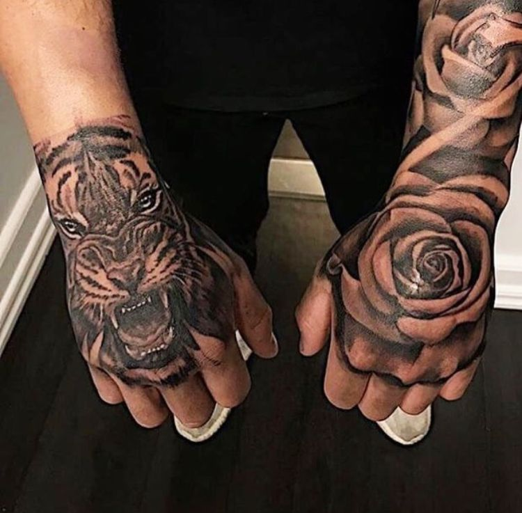 tatovering på hånden
