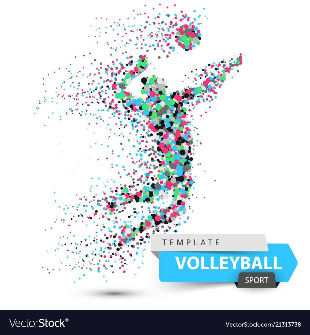 Volleyball Player Dot Game Vector Image On Vectorstock Dots Game Volleyball Volleyball Players