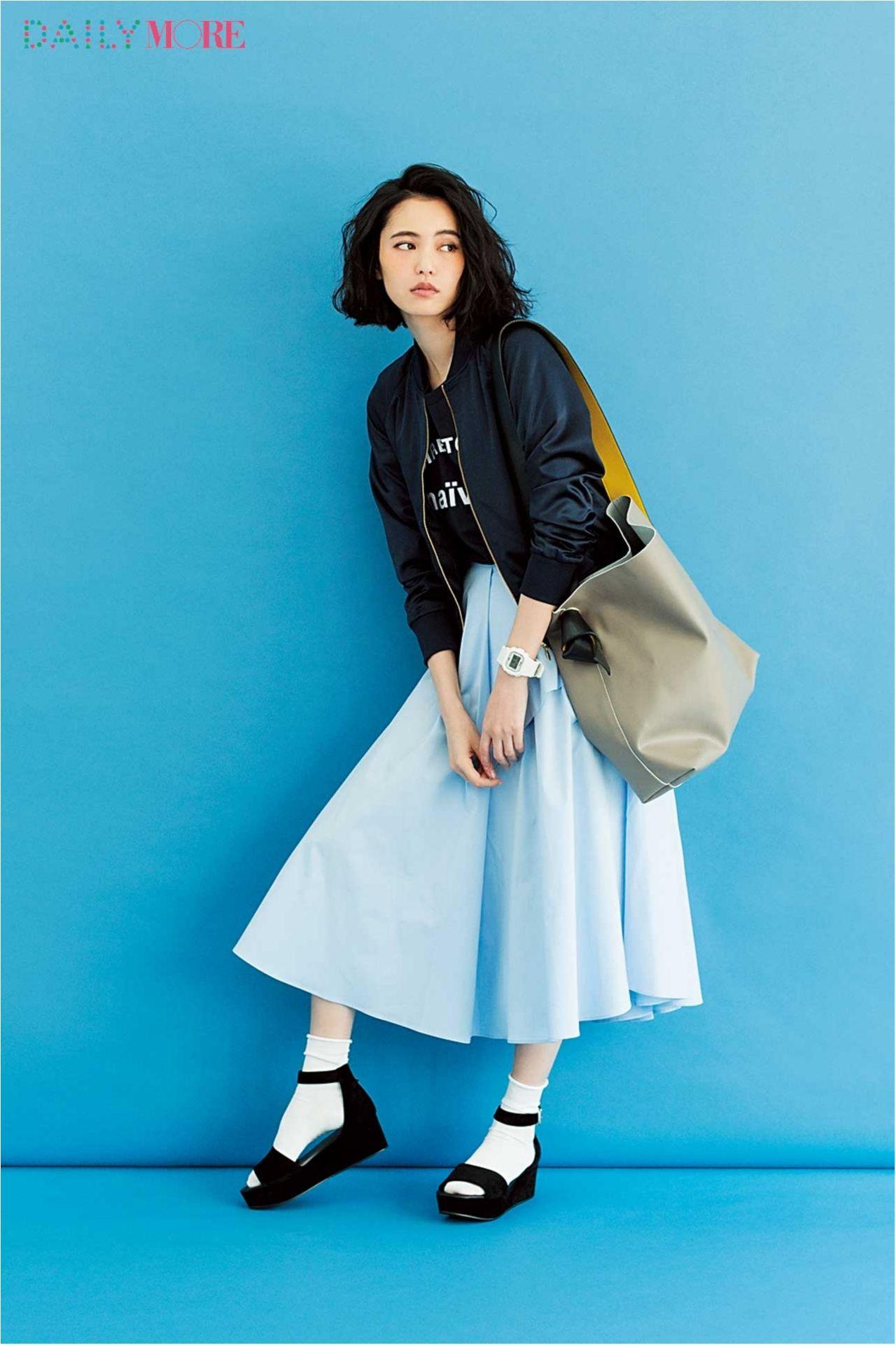 今日のコーデ 比留川游 フレアスカートを着くずしてみる火曜日 ファッションアイデア 20代ファッション ファッション