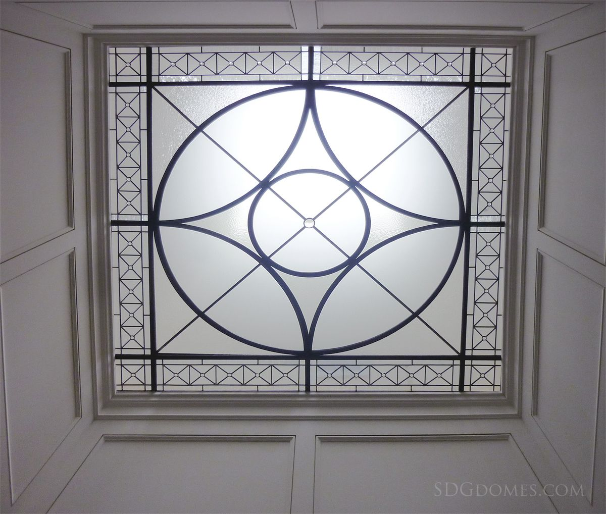 Leaded Glass Flat Lens positioned below a skylight. Perfect for ...