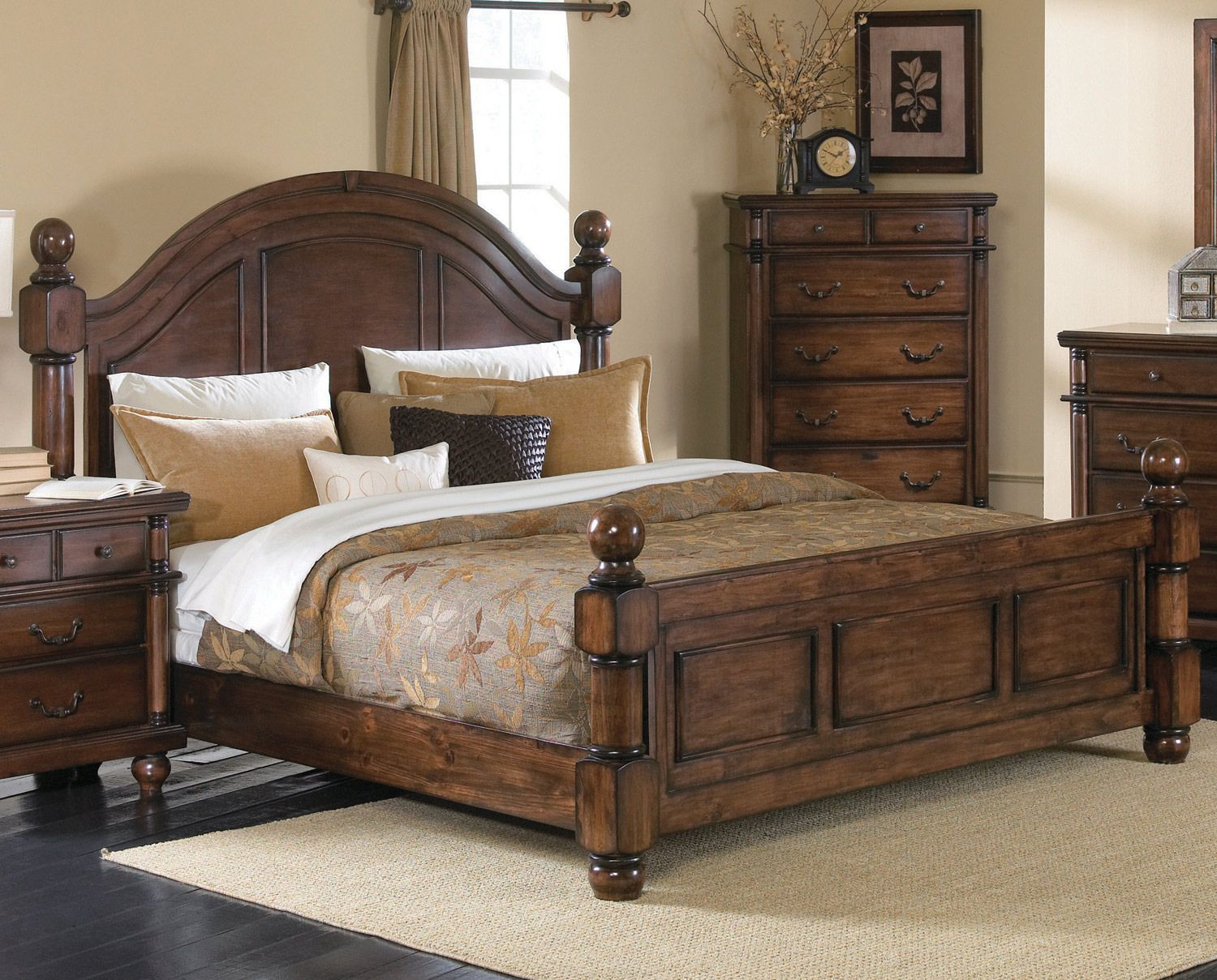 Augusta King Poster Bed by Crown Mark Furniture Home