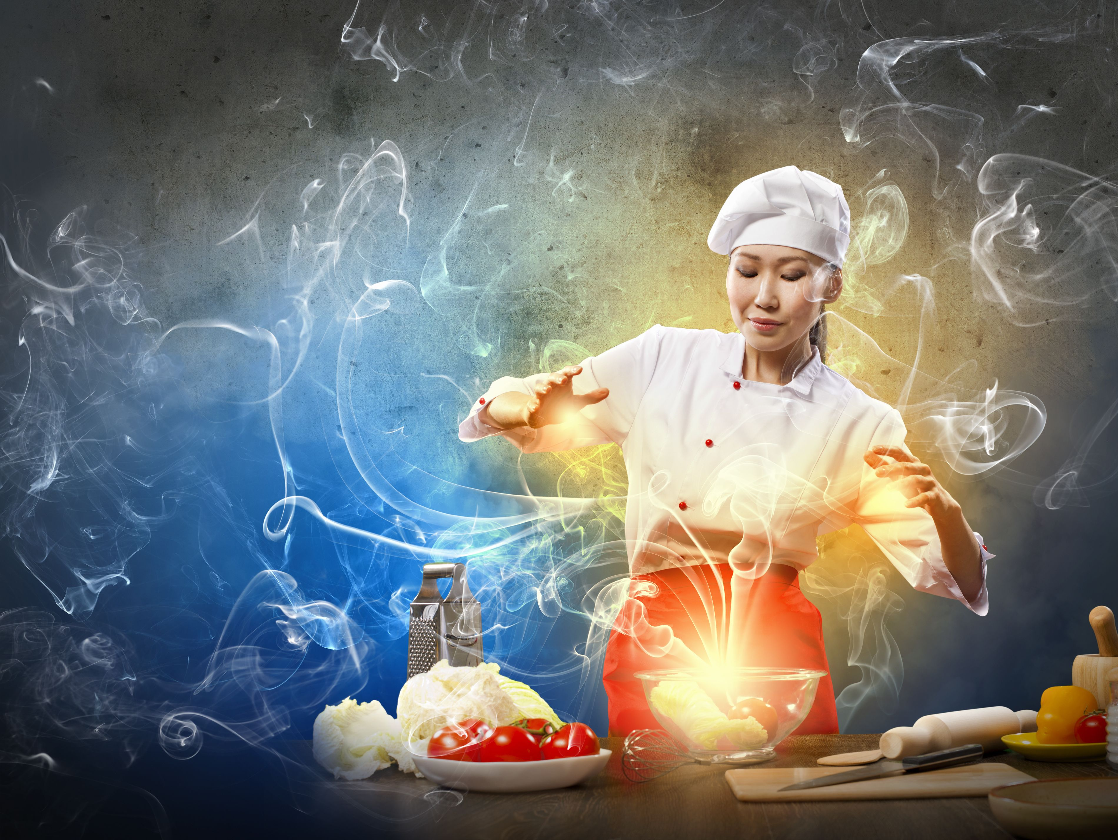 wallpaper creative chef girl
