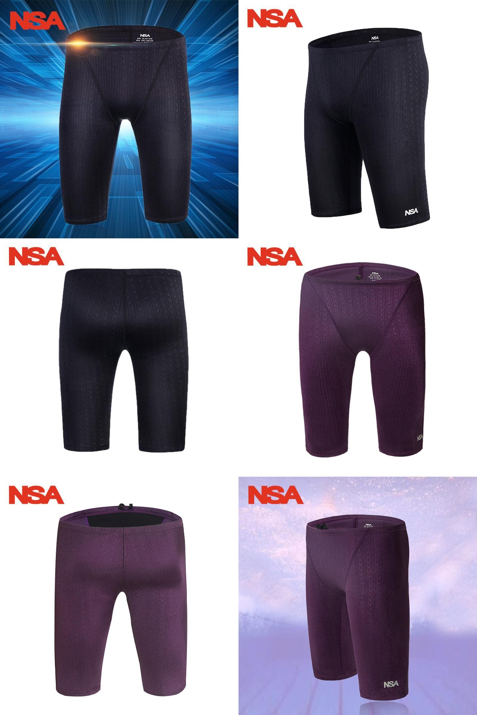 d53ba76009  Visit to Buy  NSA Arena Swimwear Men Swimsuit Trunk sharkskin professional  swimming jammer trunks