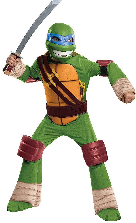 AmazonSmile: Teenage Mutant Ninja Turtles Deluxe Leonardo Costume ...