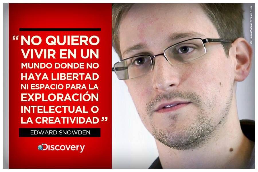 Pensamiento de Edward Snowden.
