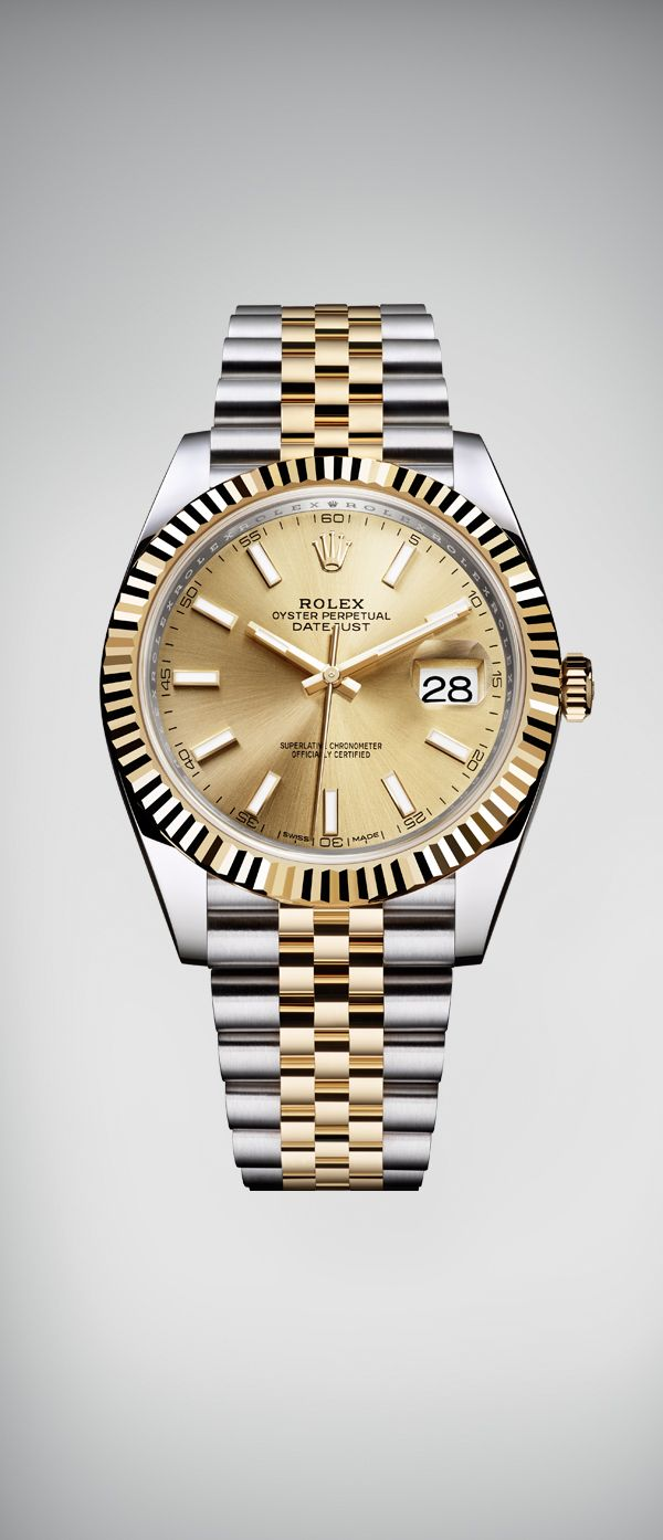 The Rolex Datejust 41 features an updated design in a 41 mm case in yellow  Rolesor 272a2cfe64
