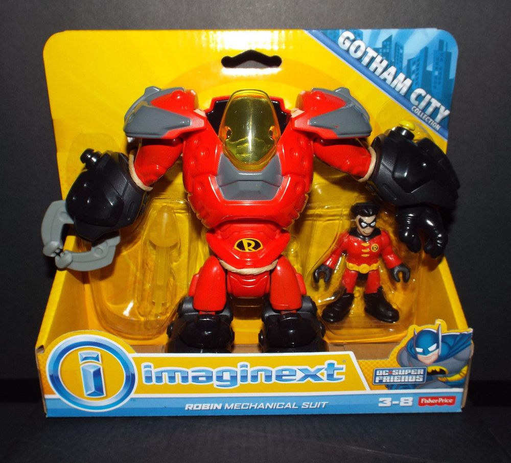 Figure 8 Cars For Sale: Fisher Price Imaginext DC Superfriends ROBIN MECHANICAL