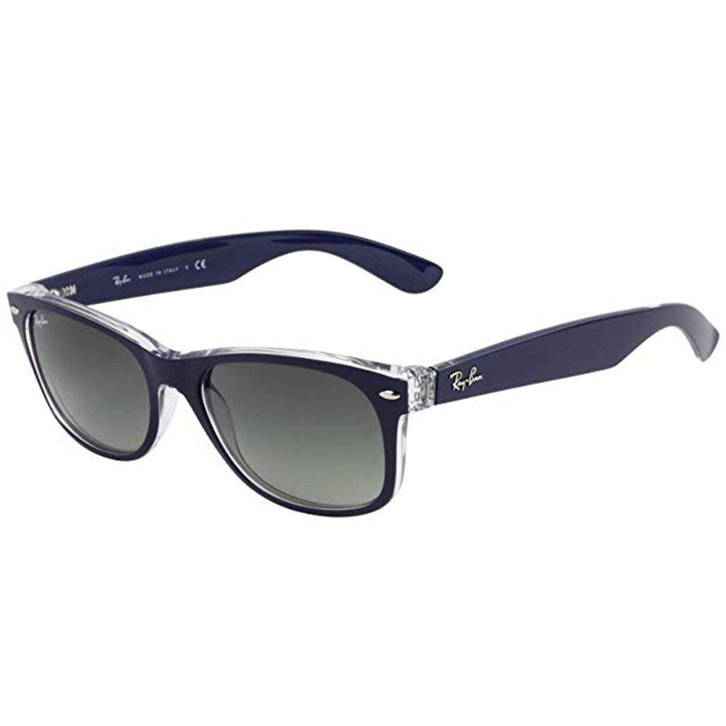 Ray Ban Rb2132 55 New Wayfarer Sunglasses Standard Blue Clear Grey Gradient Wayfarer Sunglasses New Wayfarer Sunglasses