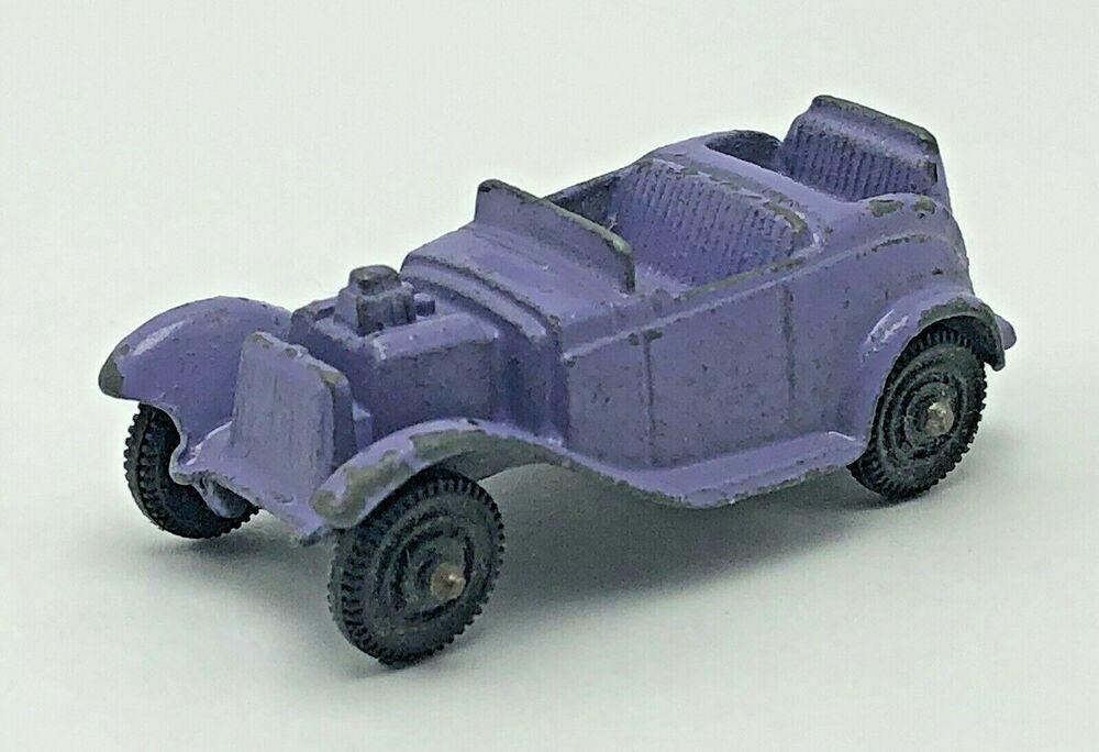 Tootsie Toy Diecast Car Purple Roadster Metal Vintage