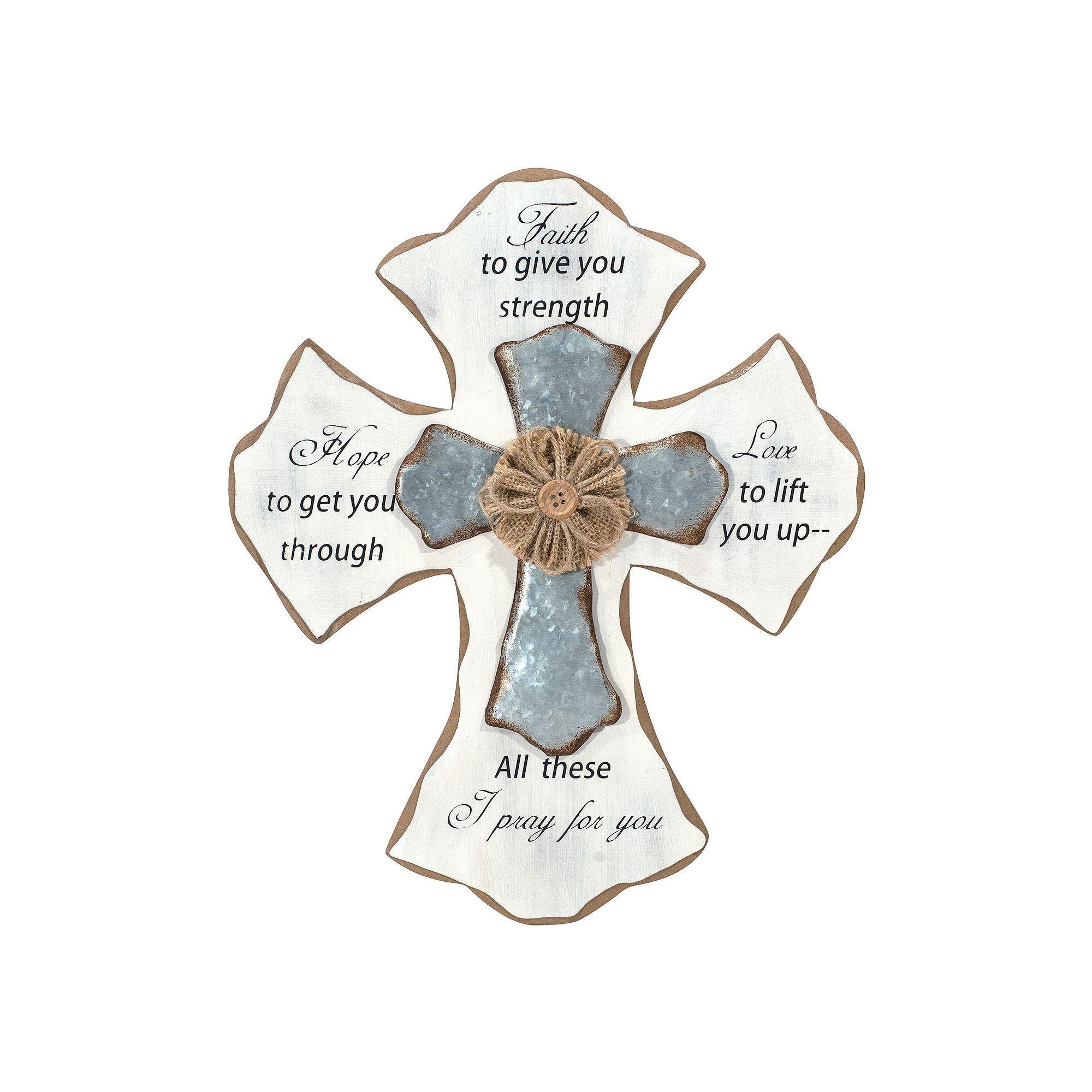 Malden faith rustic cross wall decor white products crosses malden faith rustic cross wall decor amipublicfo Gallery