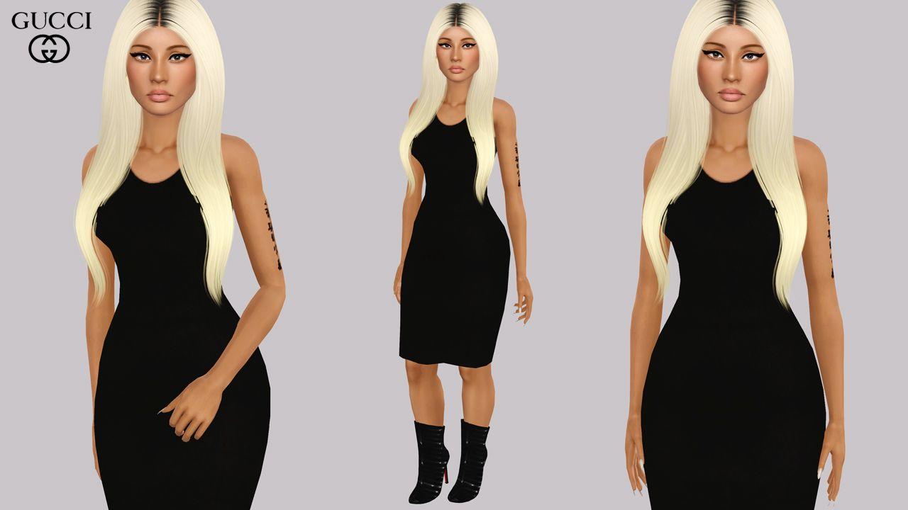 alecseycool: Gucci black dress and Christian... - Eris Sims 3 CC ...