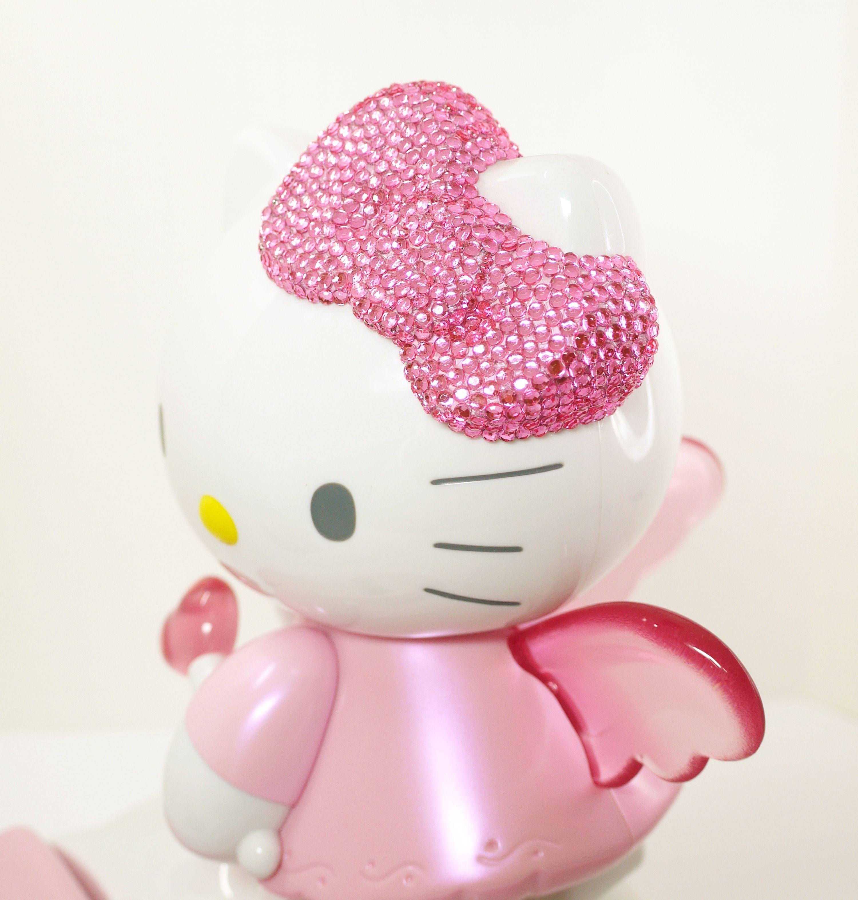 833483bff Sanrio Hello Kitty Landline Home Phone With Caller ID Angel Wings Lights Up