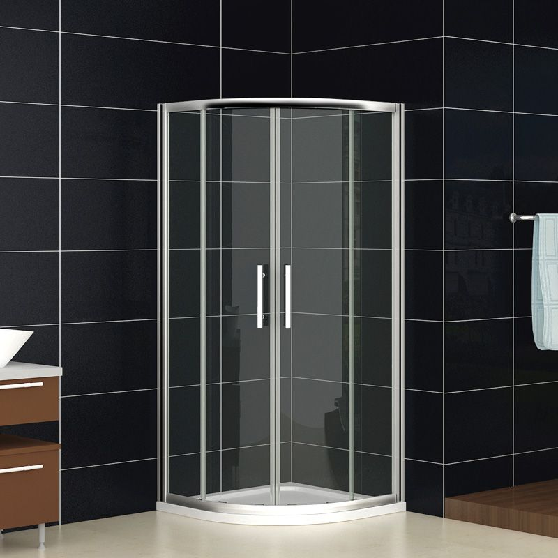 800 X 800 mm quadrant shower enclosure + Stone tray Price: £135.99 ...