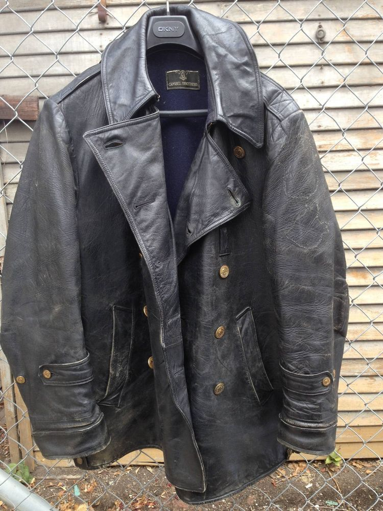 0536a2e942b72 MENS 1930 VINTAGE PITTSBURGH LEATHER POLICE MOTORCYCLE JACKET    RARE.HORSEHIDE