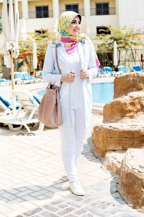 c157c37c203 Casual pastel hijab-Modest Summer Fashion Trends You Need to Follow – Just  Trendy Girls