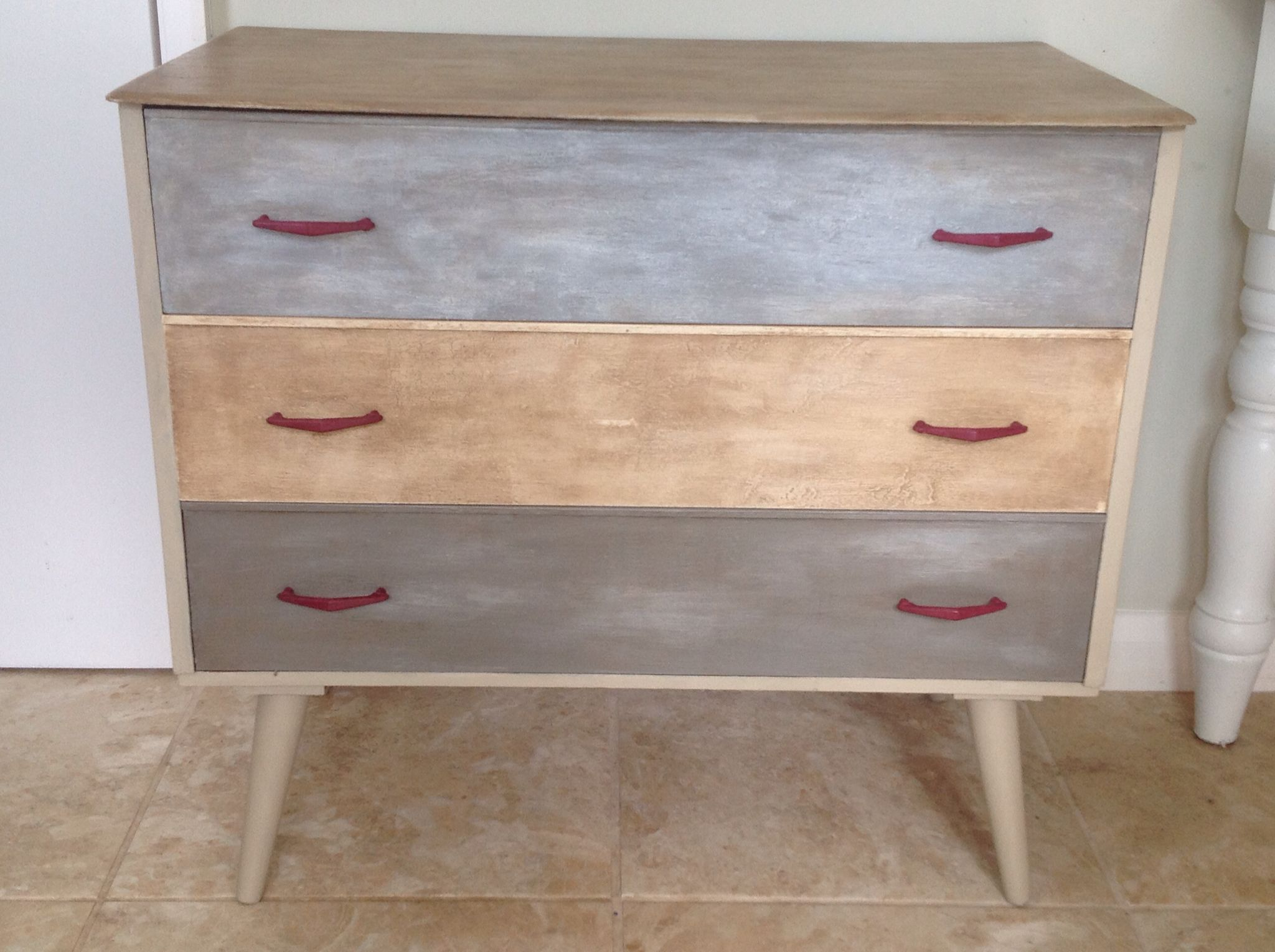 Retro chest painted with Annie Sloan chalk paints.