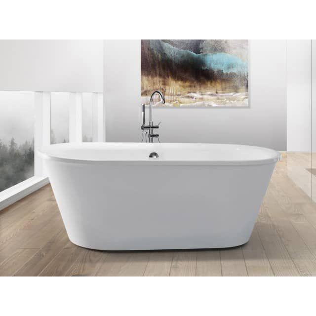 baignoire lot ovale acrylique blanc barbados beliani fr baignoire mobilier de salon