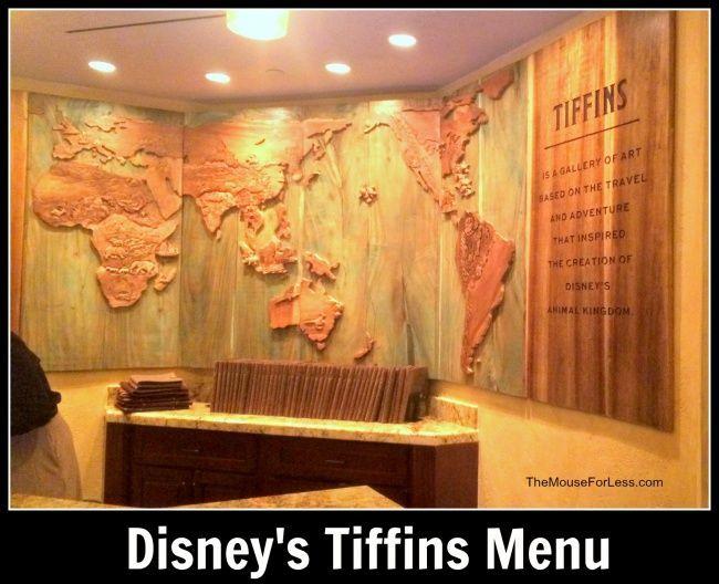 Tiffins Menu In 2018 Disneys Animal Kingdom Pinterest Disney