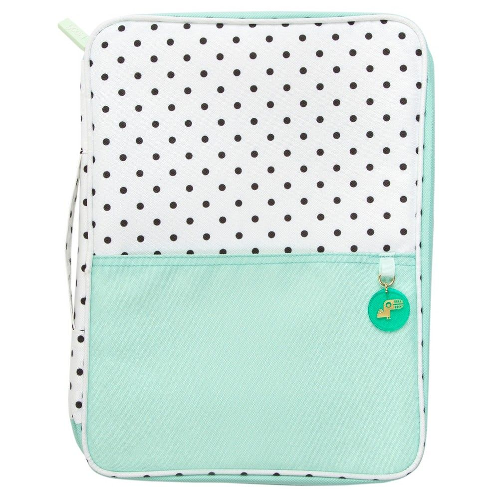 c5ada709f Yoobi Document Organizer Aqua   Black Dotty