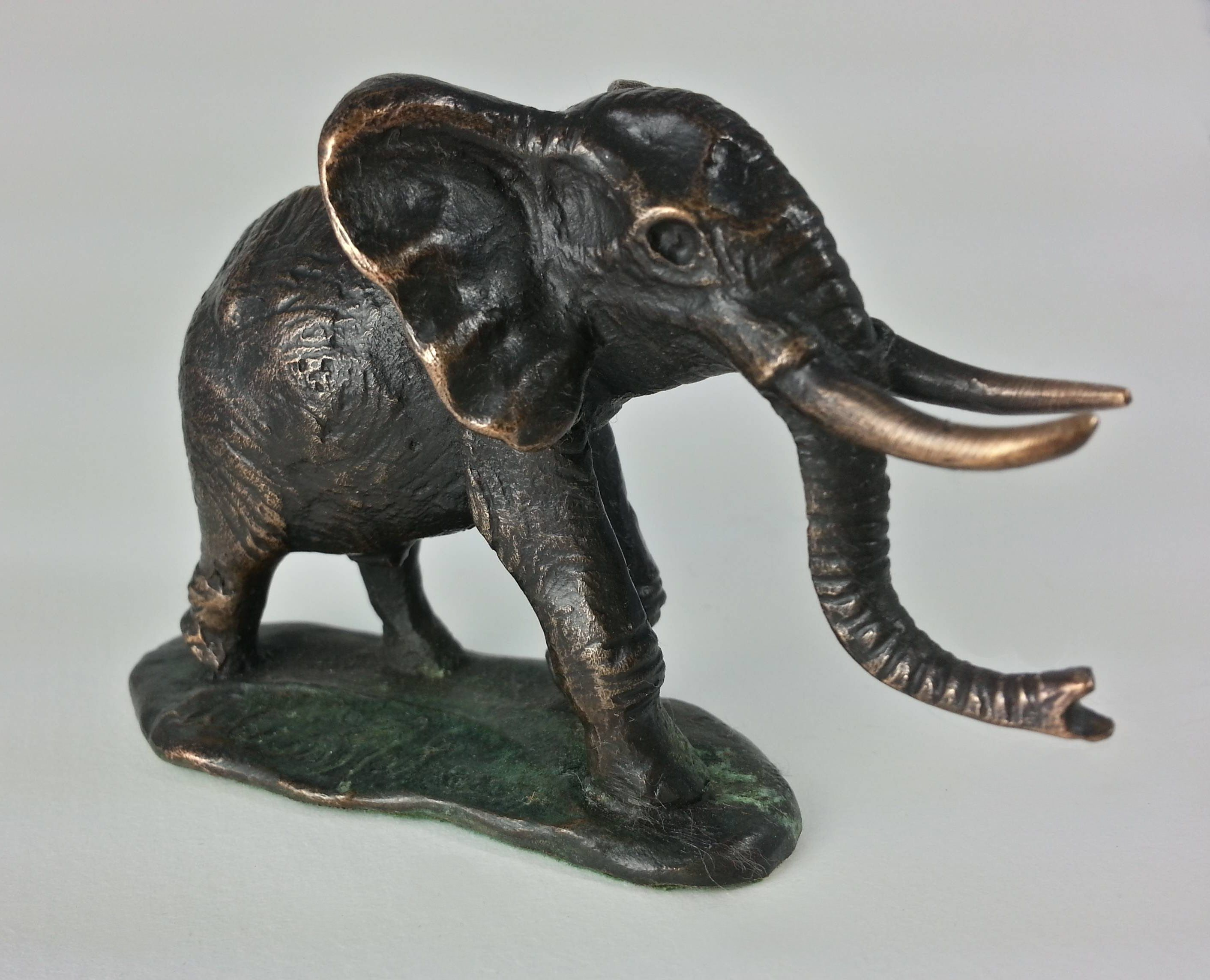 Bronze Kenyan Elephant #sculpture #African #Art