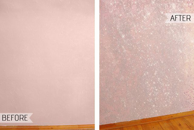 Accent Wall With Sparkly Glitter