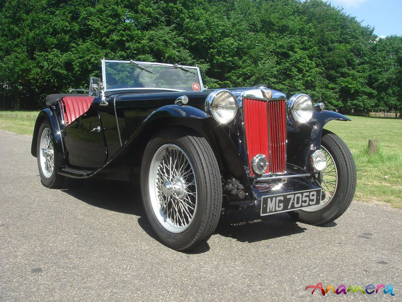 Type Mg Wire | It Was Wonderful Black With Red Leather Upholstery And Red Wire