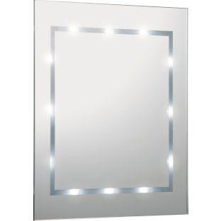 Home Illuminated Bathroom Mirror White Gloss Bathroom Mirror