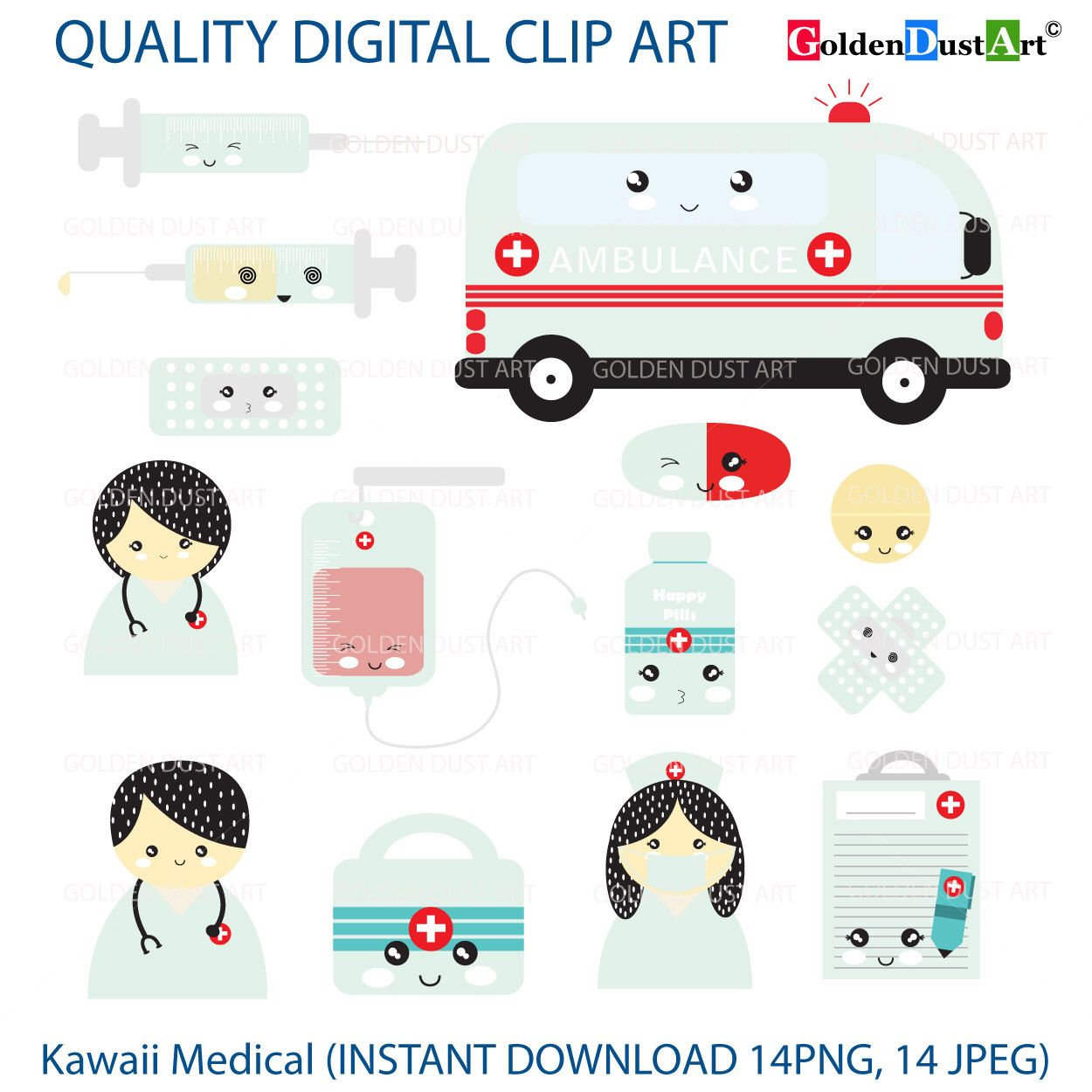 Kawaii Medical, Medical Clip Art, Doctor, Nurse, Ambulance ...