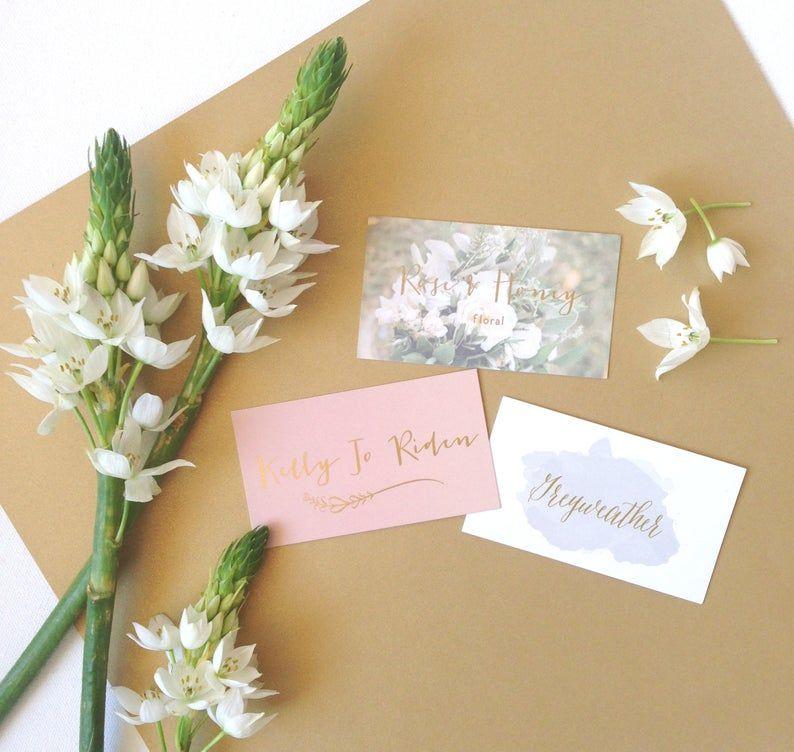 Foil business cards custom design etsy gold foil