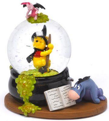 disney winnie the pooh halloween snowglobe