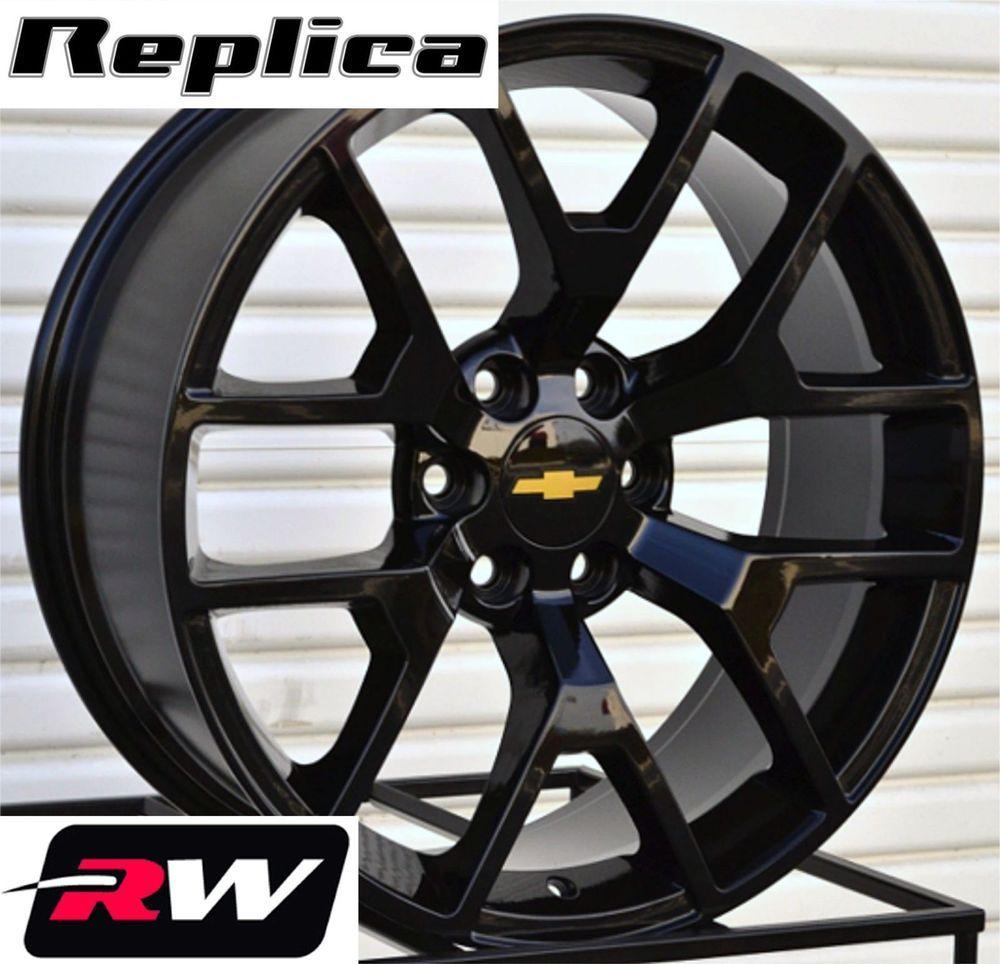 2014 gmc sierra wheels gloss black 20 inch rims fit silverado tahoe suburban