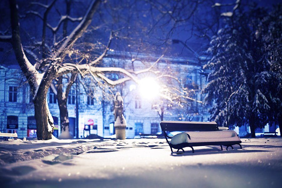 Winter In Osijek Osijek Croatia Outdoor