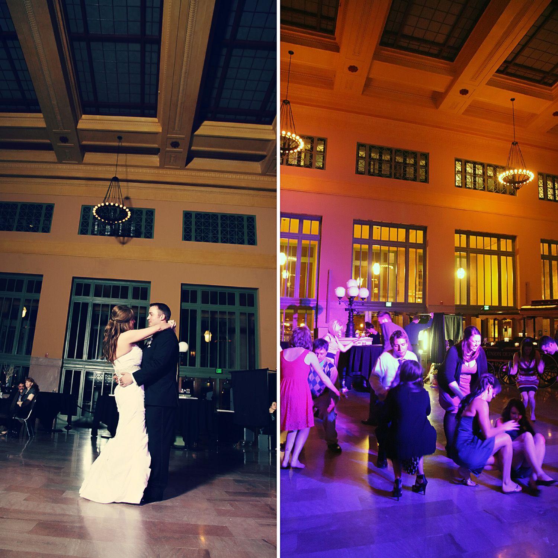 Christos Union Depot reception dance gorgeous bride