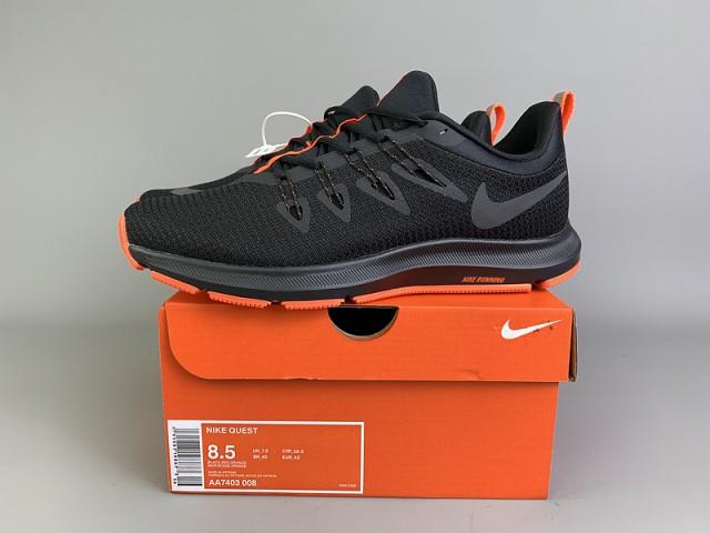 Nike Quest 1. 5 Black/Orange Mens