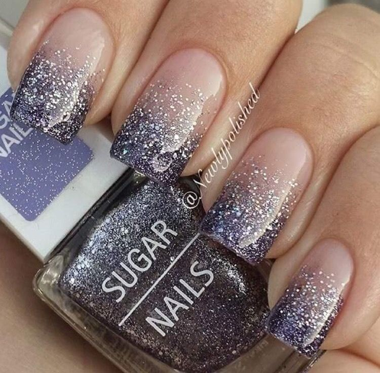 Faded glitter acrylic | Nails | Pinterest | Glitter acrylics ...