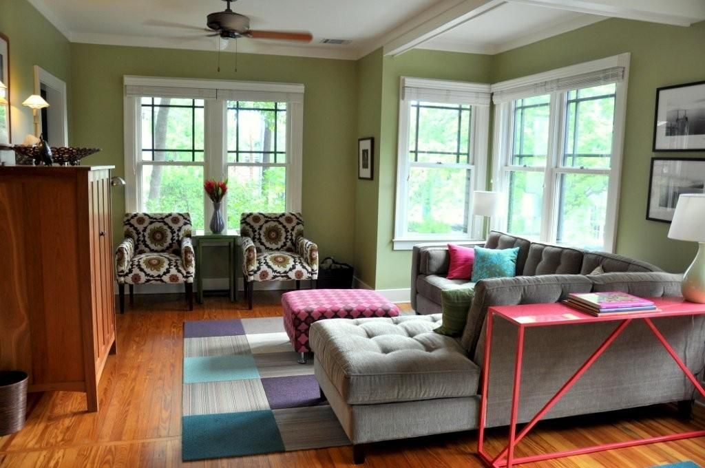 Sage Walls Gray Couch Room Colors Living Room Color Schemes Green Rooms