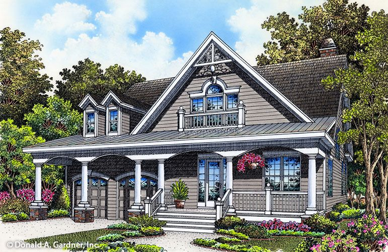 Home Plan The Drexel By Donald A Gardner Architects Bungalow House Plans Ranch Style House Plans Cottage House Designs